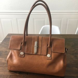 Vintage Michael Kors Brown Leather Shoulder Bag